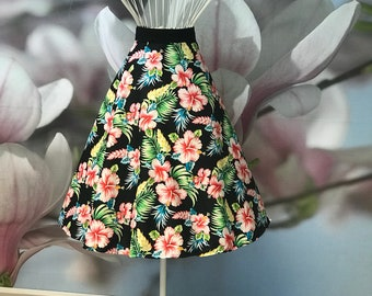 Tropical, Summer, Circle skirt, Tropicana, Floral