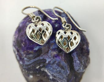 Dainty Sterling Silver Heart Earrings