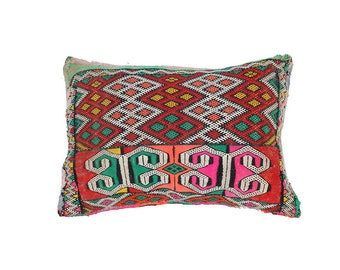 Small vintage Kilim Pillow Morocco 41 × 30 cm