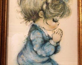 Vintage Picture of Child Praying