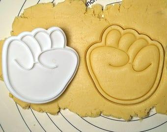 Rock (Rock, Scissors, Paper) Cookie Cutter and Stamp