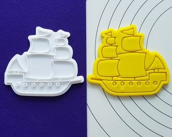 Sail Boat(May Flower) Cookie Cutter and Stamp
