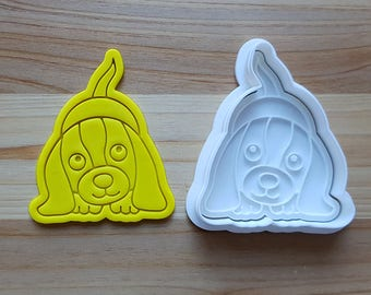Cute Beagle 01 Cookie Cutter and Stamp