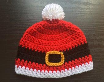 Santa hat - Christmas hat - Newborn Christmas hat - Newborn Christmas - Crochet newborn hat - Crochet beanie - Santa Beanie