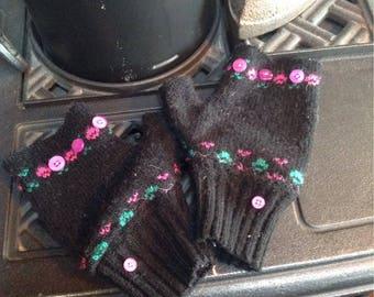 Cute fingerless sweater gloves