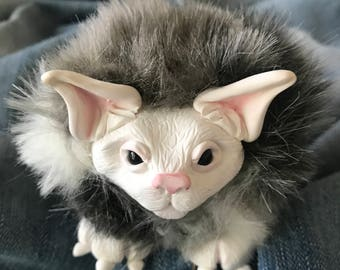 Small OOAK Stuffed Animal Cat