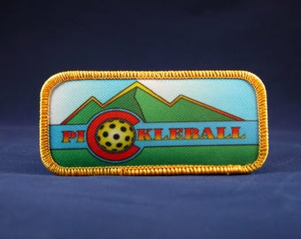 Colorado Mountain Pickleball Patch (only)