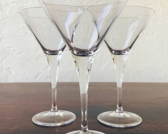 Vintage Martini Glasses (Set of 3)