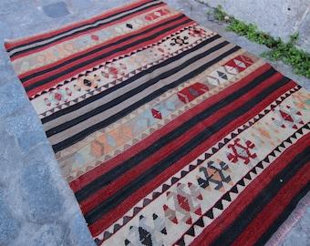 Vintage Turkish Balikesir Kilim, Turkish Kilim Rug, Home Decor, Home Design, Vintage Turkish Kilim, Kilim, Kilim Rug