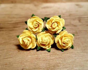 Yellow Rose Hairpin, Wedding Hair Piece, Gift for Her, Flower Hair Pins, Christmas Gift, Hair Accessory