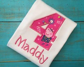 Peppa Pig birthday shirt, peppa pig shirt, peppa pig birthday outfit, peppa pig  birthday party, peppa pig, peppa pig outfit