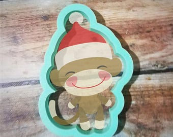 boy sock monkey cookie cutter