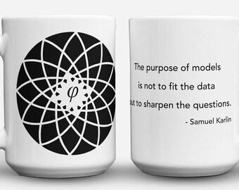 Karlin Quote and Fibonacci Flower mug