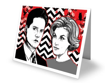Dead All Over Twin Peaks 'Agent Cooper and Audrey' Greetings Card with envelope C6 Size