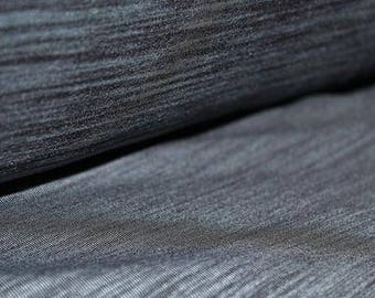 Brushed Poly Spandex, Wicking, Heathered Charcoal, 205gsm, By the 1/2 meter.
