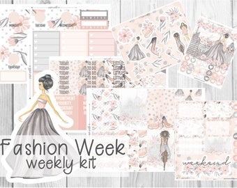 PREMIUM WEEKLY KIT // Fashion Week for use with Erin Condren Life Planner™ and Classic Happy Planner