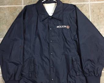Molson canadian coach jacket size xl