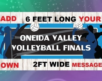 Personalized Volleyball Banner for Volleyball Player Birthday, Banquet, or Party, Volleyball Banquet, Volleyball Party