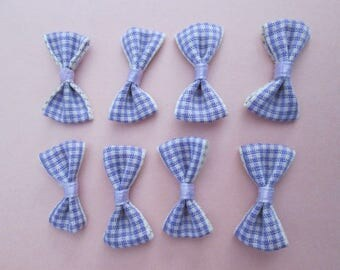 10 knots purple gingham 28 x 14 mm cotton and elastane