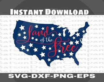 Land of the free svg etsy for States with free land