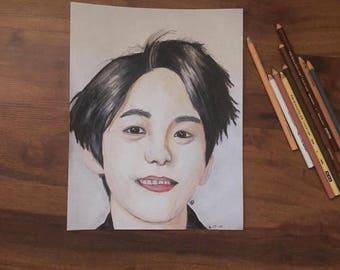 EXO Baekhyun drawing print