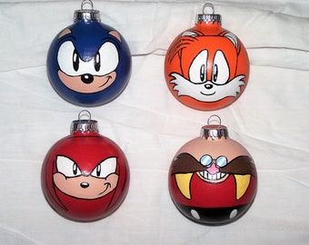 Sonic the Hedgehog Character Ornaments