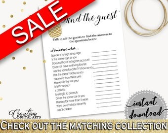 Find The Guest Game Bridal Shower Find The Guest Game Pineapple Bridal Shower Find The Guest Game Bridal Shower Pineapple Find The 86GZU