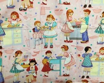 Kids Cooking Michael Miller design fabric