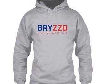 Chicago Cubs Hoodie / BRYZZO Souvenir Co. / Gray / Size S M L XL 2XL 3XL 4XL 5XL / Wrigley Field / World Series / Kris Bryant Anthony Rizzo