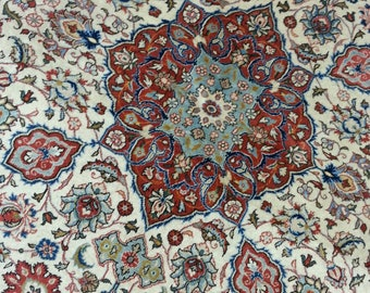 Very old persian rug Qum 6.6 × 4.7 ft 197 × 140 cm