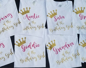 "Family ""of the birthday"" tees"