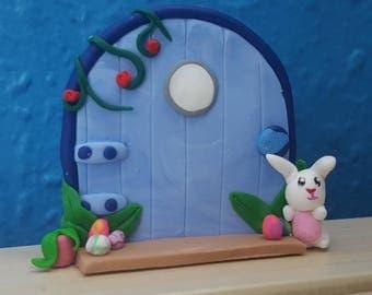 SALE! Bunny fairy door, birthday present, magical, kids gift, fairy magic, fairy garden, cute decor, fantasy decor, handmade, gift idea