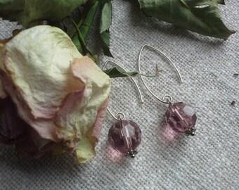 925 silver earrings purple earrings nice present daily party earrings