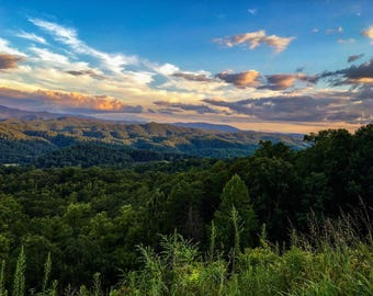 Sunset at the Foothills Parkway