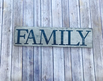 Rustic Family Sign- Wood Family Sign- Family Decor- Rustic Wood Sign- Distressed Wood Sign- Rustic Wall Décor