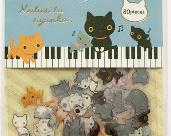 kutusita nyanko kitty sticker flakes