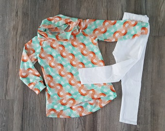 Baby girl clothes/Toddler girl clothing set/cowl neck tunic/winter clothing set for baby girl/baby tunic and leggings/toddler tunic
