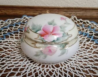 Hand Painted Nippon Powder Jar