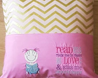 Girl Storytime Cushion Cover, Girl Cushion Cover, Storytime Cushion Cover, Storytime Cushion, Cushion, Cushion Cover