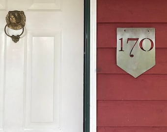 Metal House Number Sign – Rustic Address Sign – House Number Plaque – Newlywed Gift – Custom House Numbers – Modern Address Sign