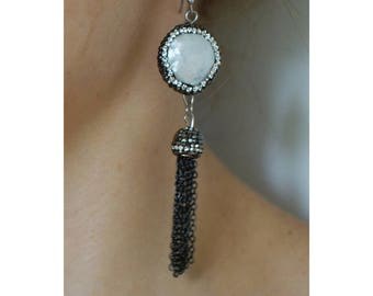 White Pearl Earrings, Pearl Earrings, Tassel Earrings, Drop Earrings, Vintage Earrings, Classic Drop Earrings, Evening Bohemian Jewellery