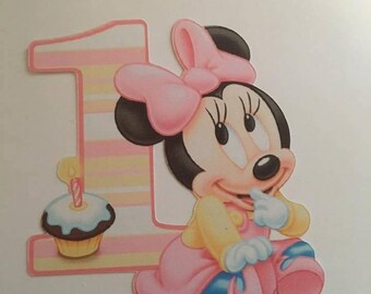 6 Disney Inspired Baby Minnie Mouse Die Cuts