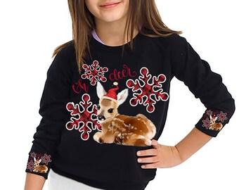 Oh deer Christmas svg Girl deer svg png Deer svg Fawn svg Doe svg Buffalo Plaid svg OH deer SVG Christmas deer SVG baby deer Little Deer