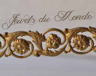 Lamp Banding Gallery Wire Ormolu Filigree Acanthus Leave Floral Jewelry Bracelet Finding Cutout Openwork 1 Foot