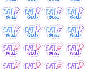 Eat Out // Diary // Planner // Stickers