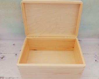 Big Wooden Box, Wooden Chest, Unfinished Box, Pine Box, Box for Decoupage, DIY Wooden Box, Wedding Box, DIY Gift Box, Unpainted Wooden Box