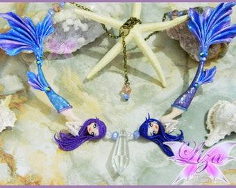 Mermaid Necklace / Galaxy mermaid