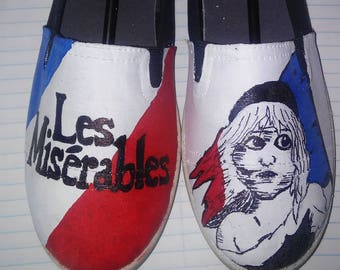 Les Miserables hand painted shoes