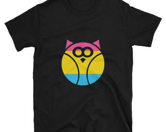 Pansexual Pride Owl Unisex T-Shirt lgbtq lgbt lgbtqipa queer gay transgender mogai
