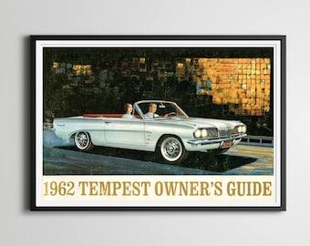 "1962 Pontiac Owners Manual POSTER! - 24"" x 36"" (full-size) / 18"" x 24"" / 8"" x 10"" - Classic Car - Vintage - Antique - Custom Print - Tempest"